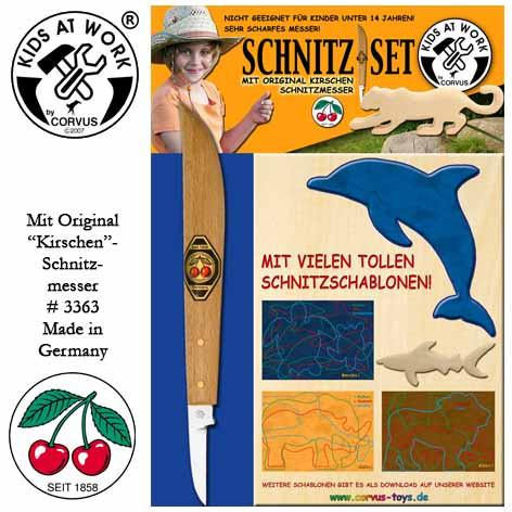 Corvus Schnitz-Set | Werkzeug für Kinder bei Das bunte Chamäleon in Bamberg und online