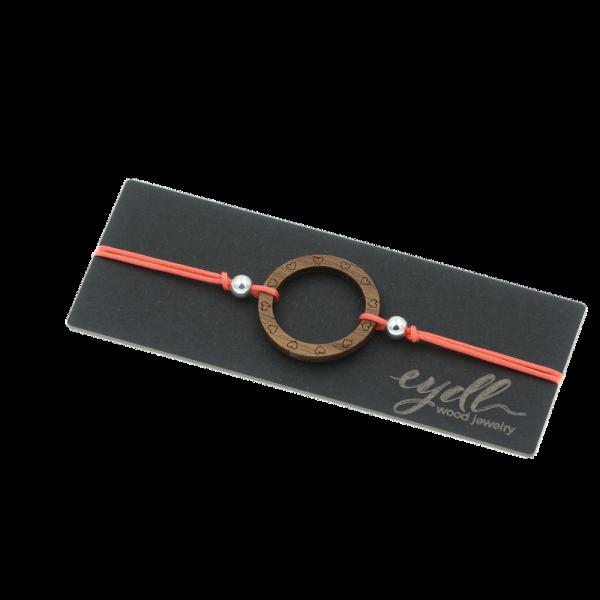 Eydl Armband Ring Nussholz, korallenrot | Natürlicher Holzschmuck bei Das bunte Chamäleon in Bamberg und online kaufen