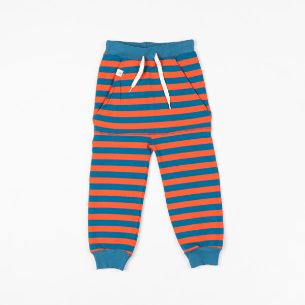 Albababy Kristoffer Pants, orange blau | Dänische Bio-Kinderkleidung bei Das bunte Chamäleon in Bamberg und online