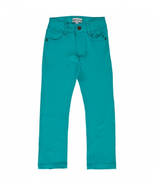 Maxomorra Jeans Pants Twill, turquoise