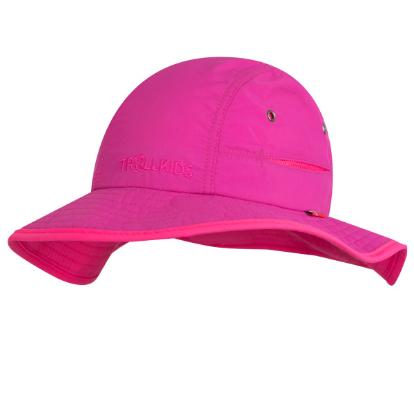 Trollkids Sonnenhut Troll Hat, magenta/rosa | Outdoorbekleidung für Kinder bei Das bunte Chamäleon in Bamberg und online