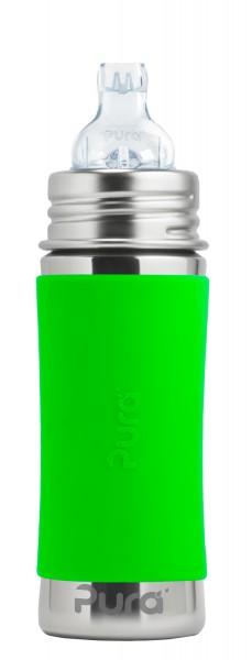 Purakiki Trinklernflasche Edelstahlflasche 300 ml, grün