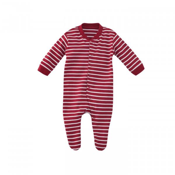 Living Crafts Schlafanzug Füßchen Rot/Weiß | Living Crafts Babysachen bei Das bunte Chamäleon in Bamberg und online