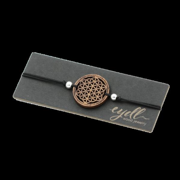 Eydl Armband Blume des Lebens Nussholz, schwarz | Natürlicher Holzschmuck bei Das bunte Chamäleon in Bamberg und online kaufen