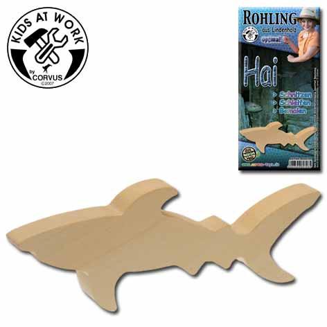 Corvus Schnitzholz-Rohling Hai   Werkzeug für Kinder bei Das bunte Chamäleon in Bamberg und online