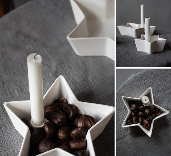 Storefactory Kerzenhalter Stjärna groß, weiß | Skandinavisches Design bei Das bunte