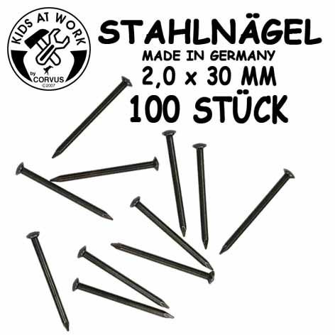 Corvus Stahlnägel 100 Stk. | Kinderwerkzeug bei Das bunte Chamäleon in Bamberg un
