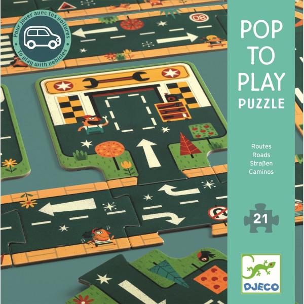 Djeco Großes Bodenpuzzle Straßen | Spielzeug für Kinder bei Das bunte Chamäleon in Bamberg und online