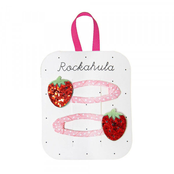 Rockahula Glitzer-Haarklammern Erdbeeren