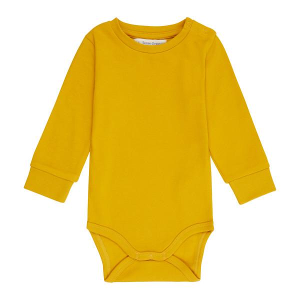 Sense Organics Langarm-Body Milan, Mustard   Bio-Kinderkleidung bei Das bunte Chamäleon in Bamberg und online