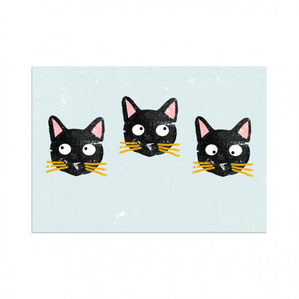 Poster, Plakat Drei Katzen | Natürliche Kinderzimmerdekoration online und in Bamberg