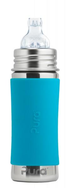 Purakiki Trinklernflasche Edelstahlflasche 300 ml, aqua