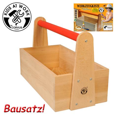 Corvus Bausatz Werkzeugkiste Holz | Kinderwerkzeug bei Das bunte Chamäleon in Bamberg und online kaufen
