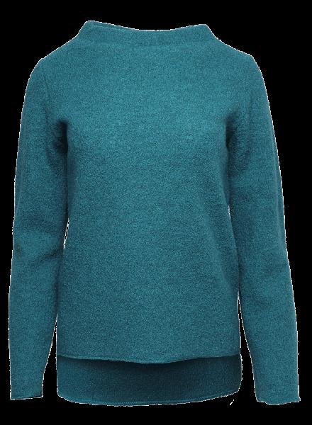 Reiff Damen Krepp-Pullover Frieda smaragd | Naturmode aus Wolle bei Das bunte Chamäleon in Bamberg und online kaufen