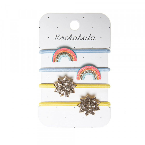 Rockahula Kids Haargummis Regenbogen und Sonne gelb | Haarschmuck für Kinder bei Das bunte Chamäleon in Bamberg und online kaufen