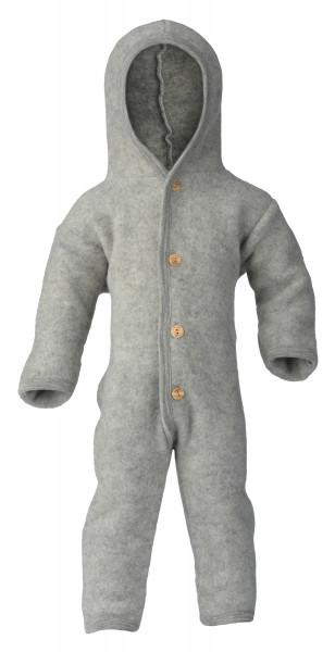 Engel Natur Baby-Overall Wollfleece, Grau melange | Wollkleidung von Engel Natur bei Das bunte Chamäleon in Bamberg und online