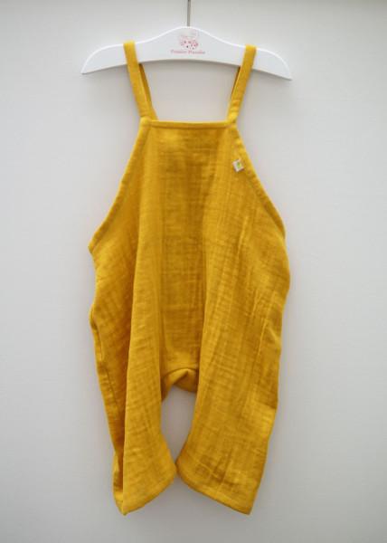 Fräulein Prusselise Hose mit Bindeträgern, Musselin gelb