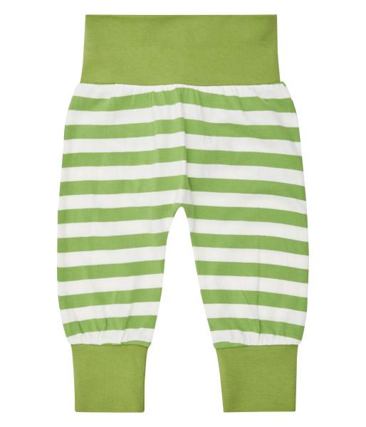 Sense Organics Pumphose Sjors, grün weiß gestreift l Bio-Kinderkleidung bei Das bunte Chamäleon in Bamberg und online