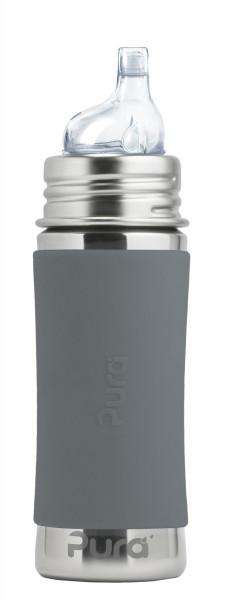 Pura Kiki Trinklernflasche grau | Edelstahlflaschen von Pura bei Das bunte Chamäleon in Bamberg und online