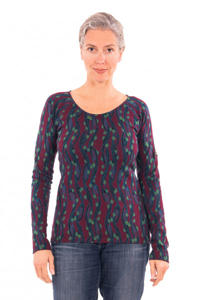 Chapati Damen-Pullover Jacquard, Wine Berry | Jacquard-Pullover von Chapati Design bei Das bunte Chamäleon in Bamberg und online
