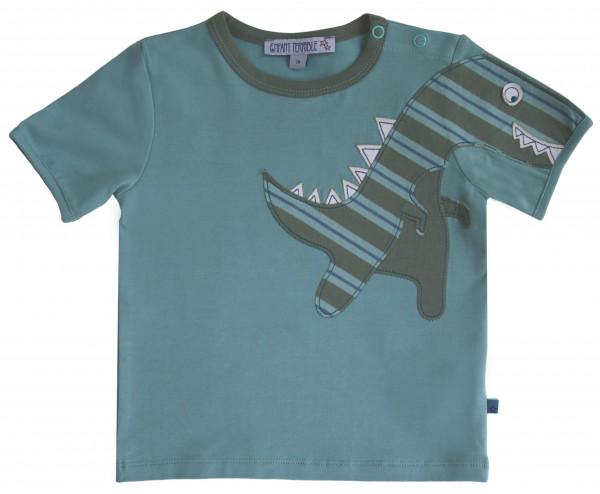 Enfant Terrible Baby-T-Shirt mit Dino, jade | Bio-Kindermode bei Das bunte Chamäleon in Bamberg und online