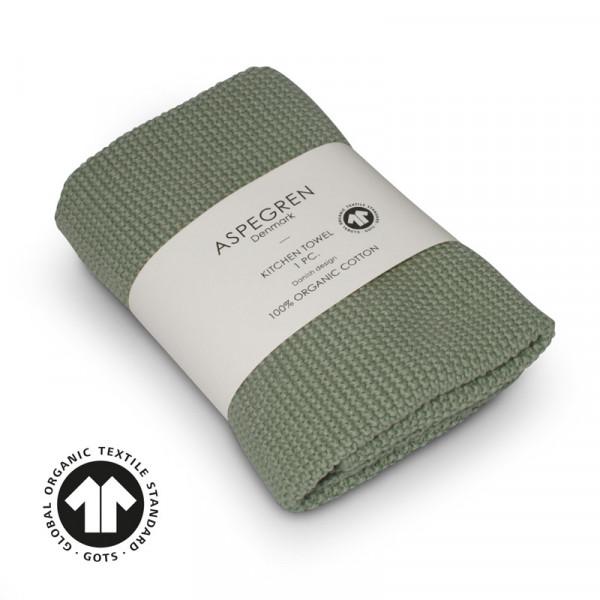 Aspegren Baumwoll-Abtrockentuch Solid Mint | Plastikfreie Dinge für zu Hause bei Das bunte Chamäleon in Bamberg und online