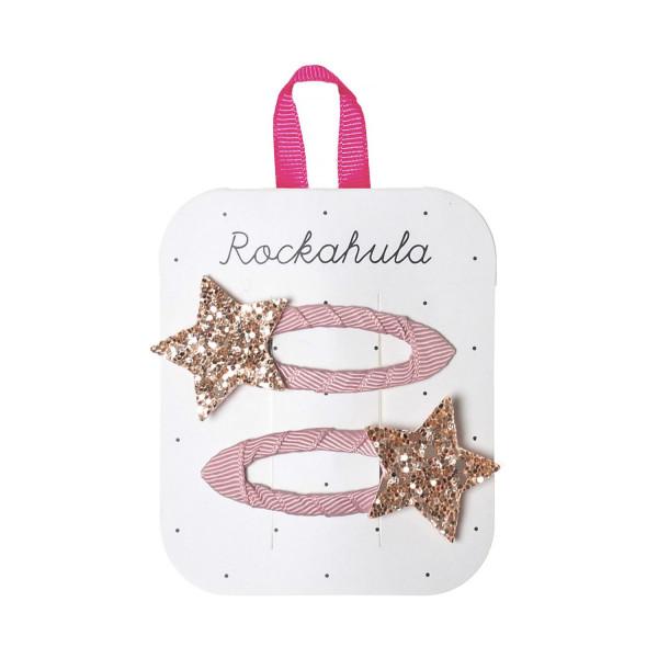 Rockahula Kids Haarklammern Glitzerstern, rosa | Kinderhaarschmuck bei Das bunte Chamäleon in Bamberg und online