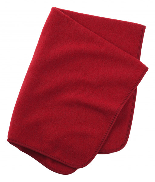 Engel Natur Baby-Decke Wollfleece, Rot melange | Wollkleidung von Engel Natur bei Das bunte Chamäleon in Bamberg und online