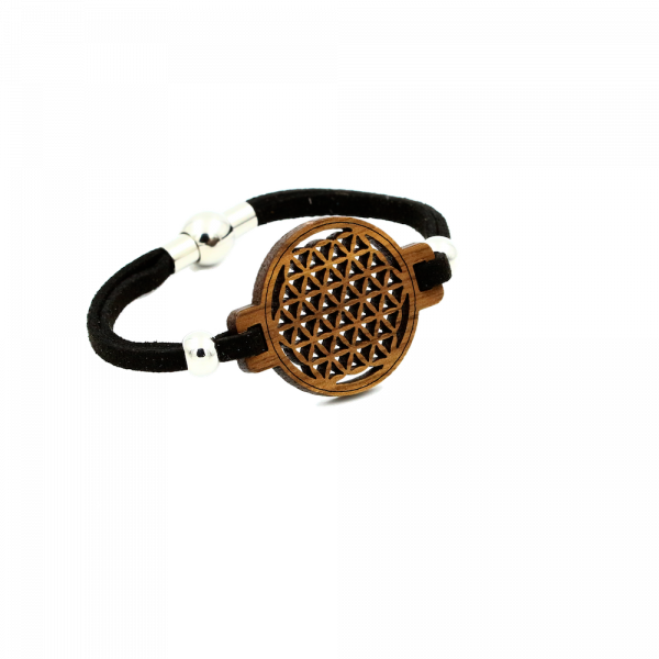 Eydl Armband Blume des Lebens, Nuss | Natürlicher Holzschmuck bei Das bunte Chamäleon in Bamberg und online kaufen