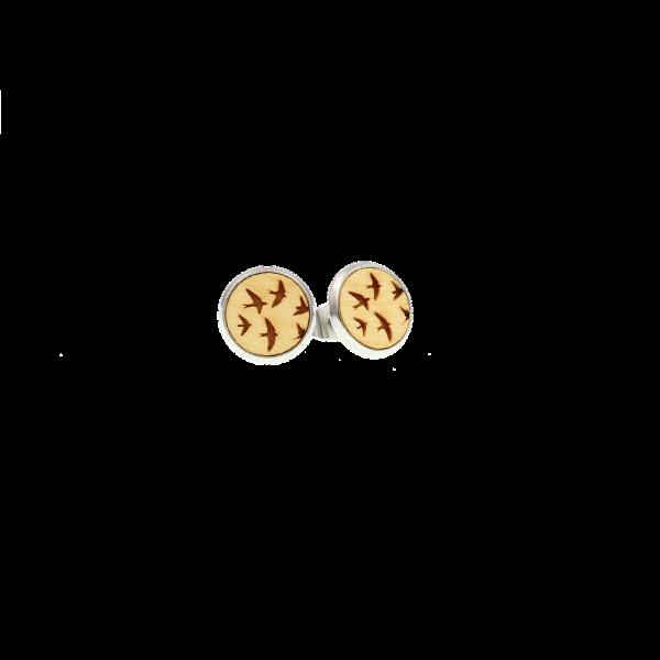 Ohrstecker Vögel, Ahorn