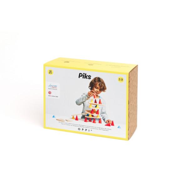 Piks Medium Set 44 Teile | Holzspielzeug für Kinder bei Das bunte Chamäleon in Bamberg und online