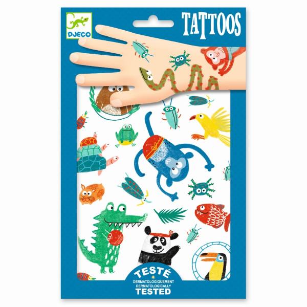 Djeco Tattoos Tiere | Basteln für Kinder bei Das bunte Chamäleon in Bamberg und online
