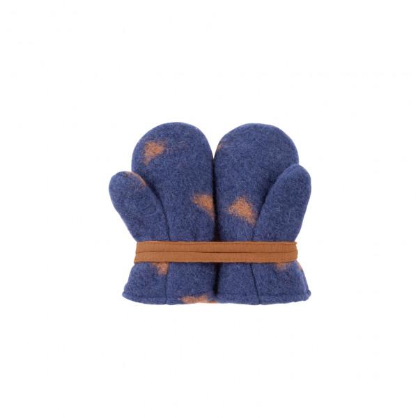 Pure Pure Baby-Fäustel, blau-karamell | Babykleidung aus Wolle bei Das bunte Chamäleon in Bamberg und online kaufen