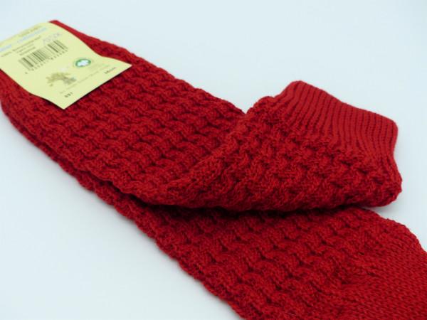 Grödo Stulpen Wolle, rot | Strickstulpen aus Wolle bei Das bunte Chamäleon in Bamberg und online