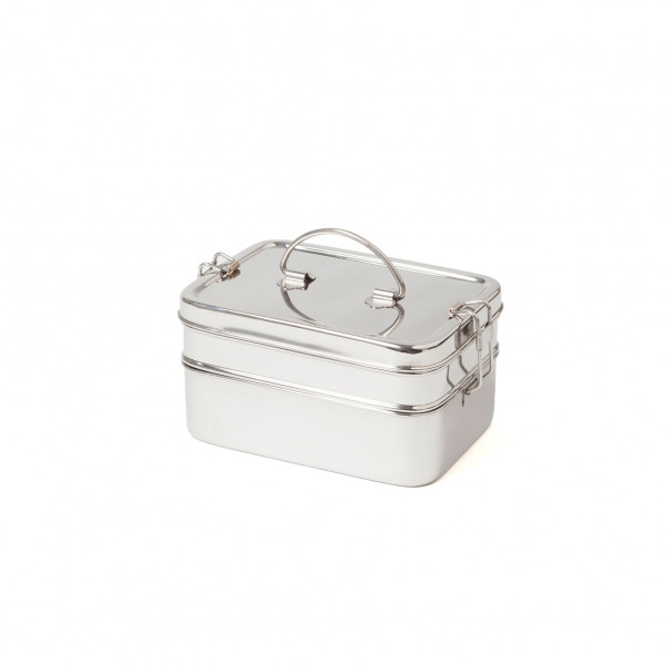 Eco Brotbox XL Double aus Edelstahl | Edelstahlbrotdosen bei Das bunte Chamäleon in bamberg und online kaufen