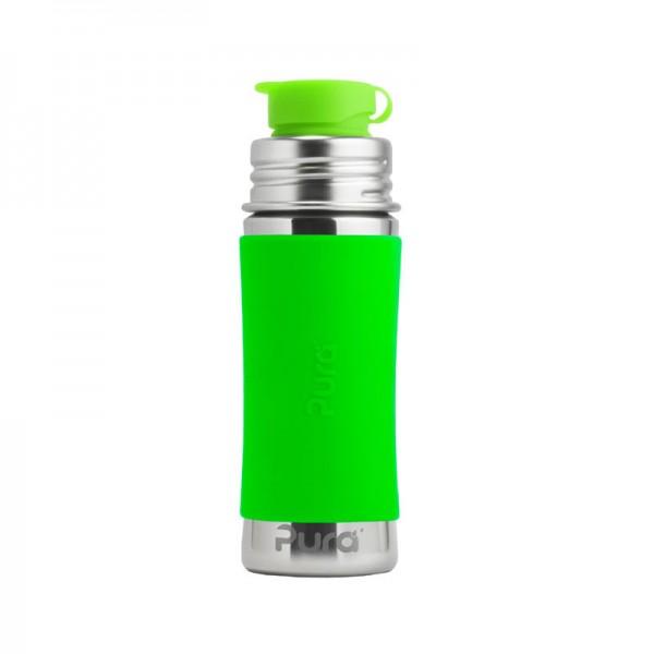 Purskiki Sportflasche aus Edelstahl und Silikon | Edelstahlflasche von Pura