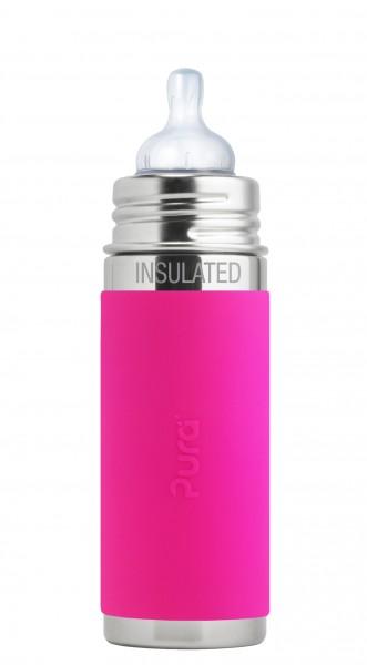 Purakiki Edelstahl Isolierflasche Edelstahlflasche 250 ml, rosa