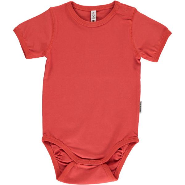 Maxomorra Body kurzarm Rusty Red | Bio-Kinderkleidung von Maxomorra bei Das bunte Chamäleon online kaufen