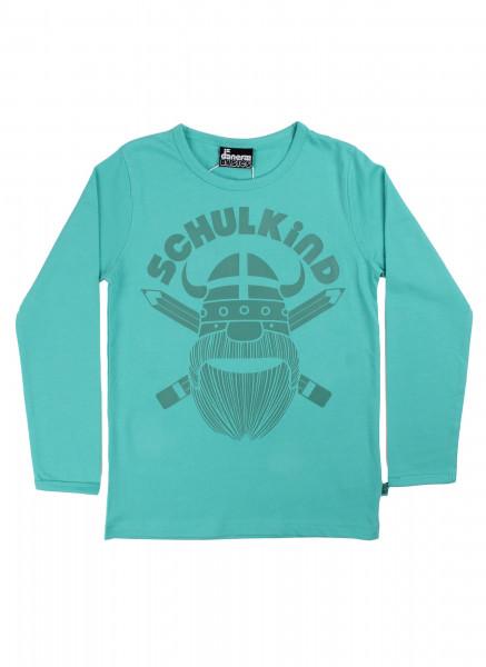 Danefae Schulkind-Shirt Aqua | Skandinavische Kinderkleidung bei Das bunte Chamälein Bamberg kaufen