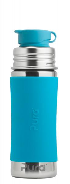 Purakiki Sportflasche aus Edelstahl und Silikon | Edelstahlflaschen von Pura bei Das bunte Chamäleon