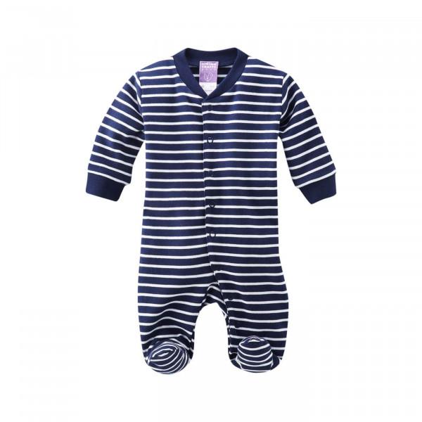 Living Crafts Schlafanzug Füßchen Navy/Weiß | Living Crafts Babysachen bei Das bunte Chamäleon in Bamberg und online