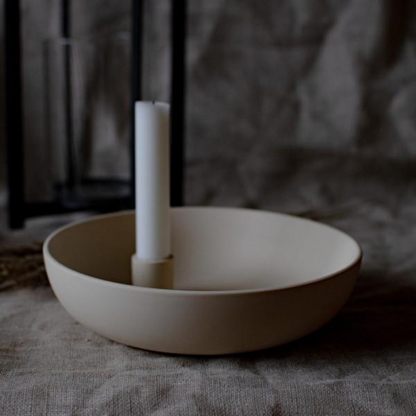 Storefactory Kerzenhalter Lidatorp XL, creme | Skandinavisches Design bei Das bunte