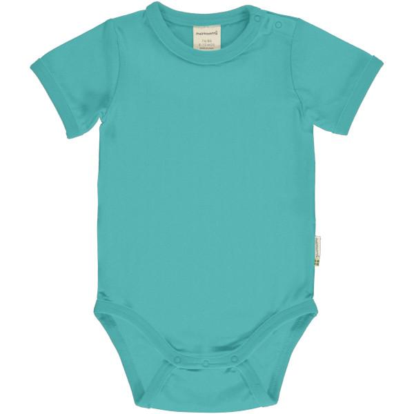 Maxomorra Body Kurzarm, Aqua | Bio-Kinderkleidung von Maxomorra bei Das bunte Chamäleon online kaufen