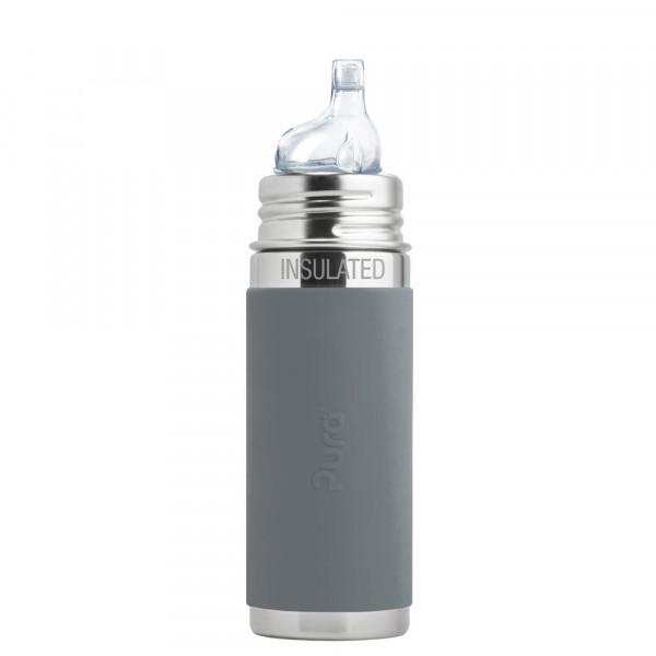 Pura kiki isolierte Trinklernflasche Grau | Edelstahltrinkflaschen von Pura online