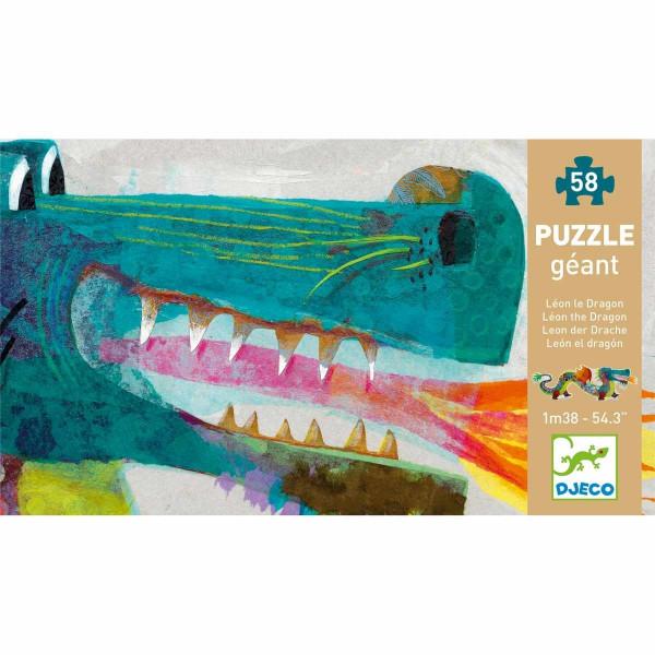 Djeco Großes Bodenpuzzle Drache | Spielzeug für Kinder bei Das bunte Chamäleon in Bamberg und online