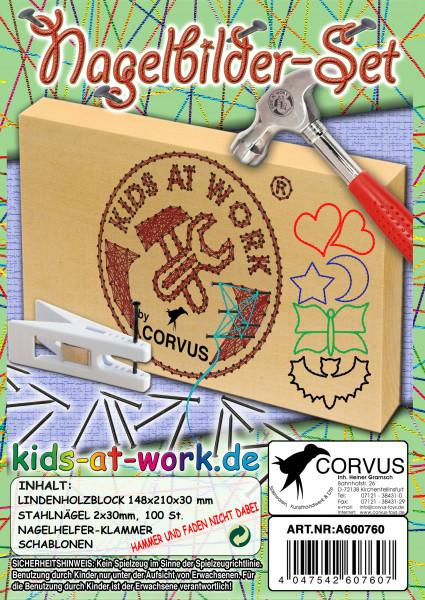 Corvus Nagelbilder-Set | Werkzeug für Kinder bei Das bunte Chamäleon in Bamberg und online