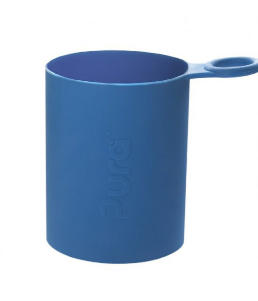 Pura Silikonüberzug blau | Pura Trinkflaschen bei das bunte Chamäleon