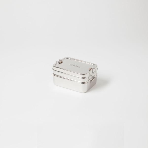 ECO Brotbox Dabba Magic mit Snackbox aus Edelstahl, 2-lagig
