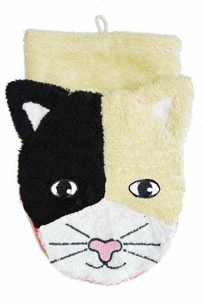 Fürnis Waschlappen Katze | Kindersachen bei Das bunte Chamäleon in Bamberg und online