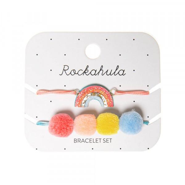 Rockahula Kids Armkettchen Regenbogen rosa | Kinderschmuck bei Das bunte Chamäleon in Bamberg und online
